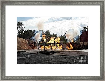 Indiana Jones Epic Stunt Spectacular At Hollywood Studios Walt Disney World Prints Poster Edges Framed Print