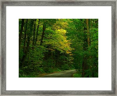 Indiana Road Framed Print by Joyce Kimble Smith