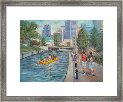 Indianapolis Canal Walk Framed Print