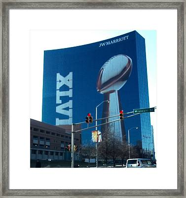 Indianapolis Marriott Trubute To Super Bowl 46 Framed Print