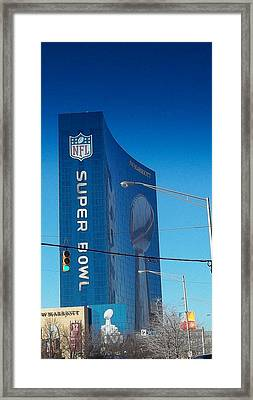Indianapolis Marriott Welcomes Super Bowl 46 Framed Print