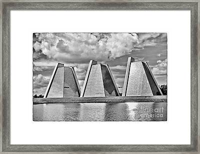Indianapolis Pyramids Framed Print by David Haskett