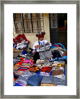 Indigenous Clothing Framed Print by Al Bourassa