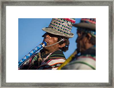 Indigenous Music Festivals. Republic Of Bolivia Framed Print by Eric Bauer