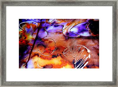 Indigo Brown Orange Yellow And Silver  Framed Print by Alexandra Jordankova