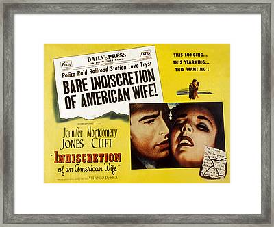 Indiscretion Of An American Wife, Aka Framed Print