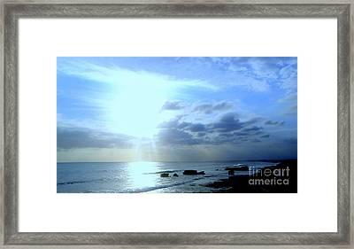 Indonesian Beach Sunset Framed Print by Samantha Mills