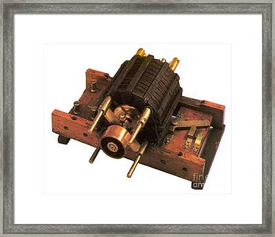 Induction Motor Framed Print by Photo Researchers