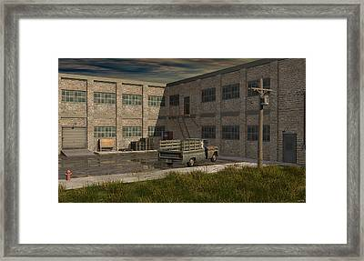 Industrial Courtyard Framed Print by Robin Meade