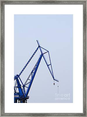 Industrial Crane Framed Print by Sam Bloomberg-rissman