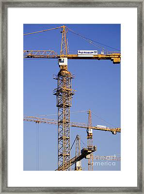 Industrial Cranes Framed Print by Jeremy Woodhouse