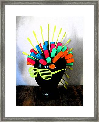 Industrial Head Framed Print by Cyryn Fyrcyd