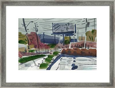 Industrial Park Two Framed Print by Donald Maier