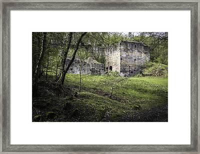 Industrial Ruin Framed Print by Amanda Elwell