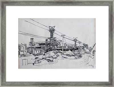 Industrial Site Framed Print