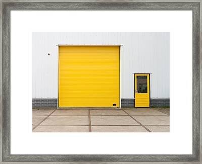 Industrial Warehouse Framed Print