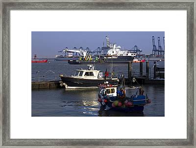 Industry At Sea Framed Print