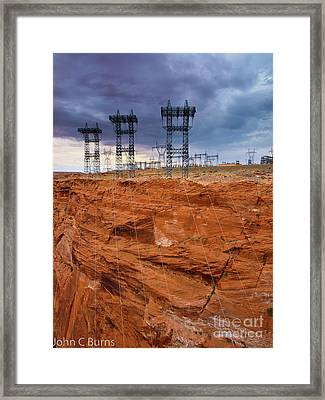 Framed Print featuring the photograph Industry Vs. Nature by John Burns