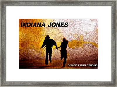 Indy And Marions Escape Framed Print