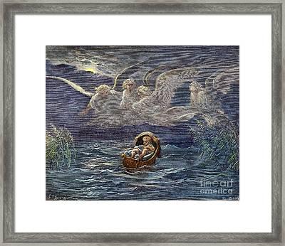 Infant Moses On Nile Framed Print by Granger