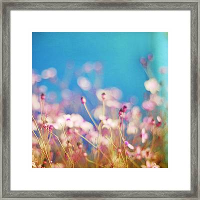 Infatuation In Blue II Framed Print by Amy Tyler