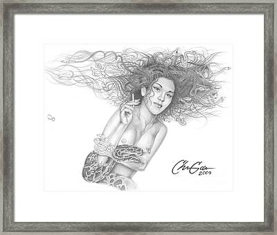 Infectious One Framed Print by Christian Garcia