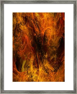 Inferno Framed Print by Niels Walther