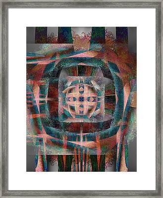 Infinite Scrollwork Framed Print