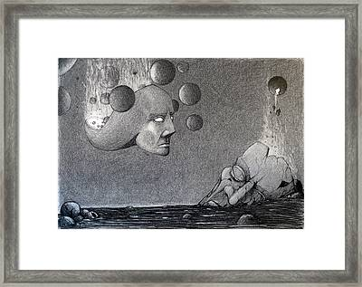Framed Print featuring the drawing Infinity Of The Universe by Mariusz Zawadzki