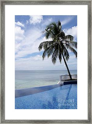 Framed Print featuring the photograph Infinity Pool Big Corn Island Nicaragua by John  Mitchell