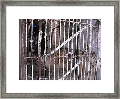 Framed Print featuring the photograph Infirmary Gate by Christophe Ennis