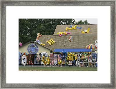 Inflatable Rafts And Beach Toys Framed Print