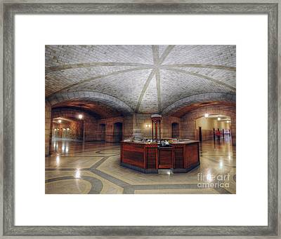Framed Print featuring the photograph Info Desk by Art Whitton