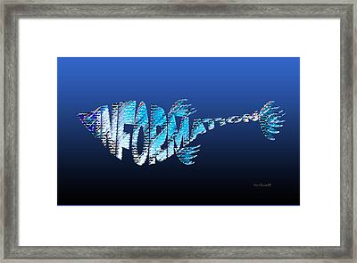 Framed Print featuring the digital art Info Fish by Asok Mukhopadhyay