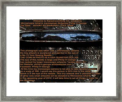 Information Microphotograph  Framed Print by Phillip H George