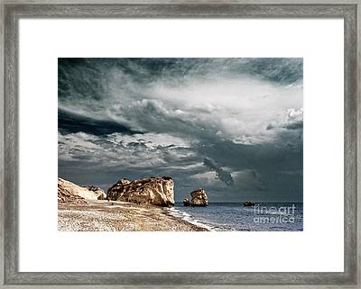 Infrared Aphrodite Rock Framed Print by Stelios Kleanthous