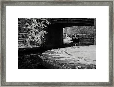 Infrared At Llangollen Canal Framed Print