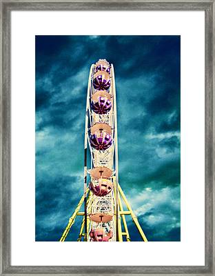 infrared Ferris wheel Framed Print by Stelios Kleanthous