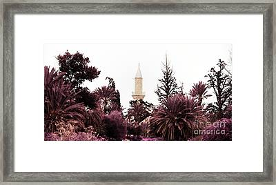 infrared Hala Sultan Tekke Framed Print by Stelios Kleanthous