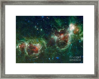 Infrared Mosaic Of The Heart And Soul Framed Print by Stocktrek Images