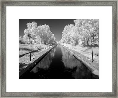 Infrared River Framed Print