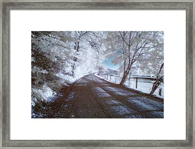 Infrared Snow In July Framed Print
