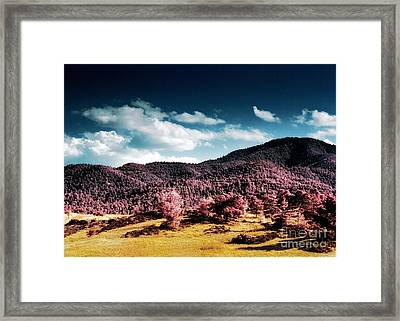 Infrared Troodos Mountains Framed Print by Stelios Kleanthous