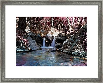 Infrared Waterfall Framed Print by Stelios Kleanthous
