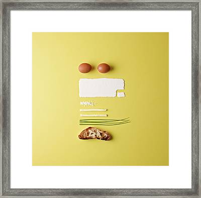Ingredients For Scrambled Eggs Framed Print by Mark Lund