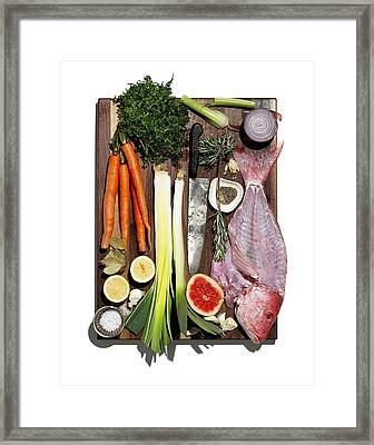 Ingredients Framed Print by Michael Kraus