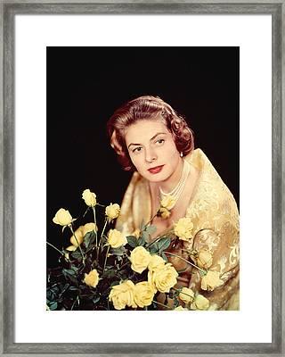 Ingrid Bergman, 1950s Framed Print by Everett