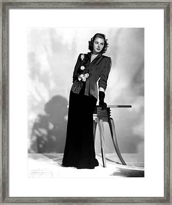 Ingrid Bergman, Early 1940s Framed Print by Everett