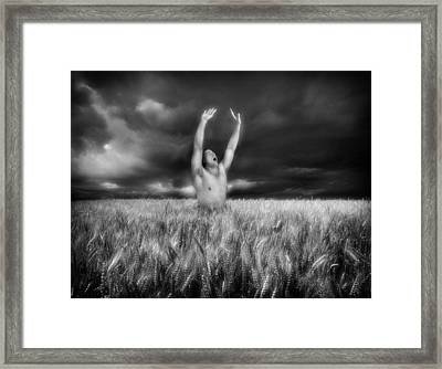 Inhaling Thunder Framed Print by Chance Manart