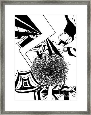 Ink Line Drawing Framed Print by Christine Perry